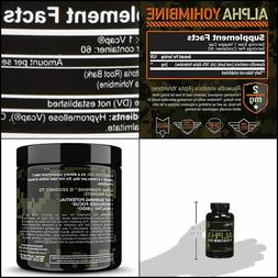 60 Capsules Team Six Supplements Alpha Yohimbine Proven Yohi