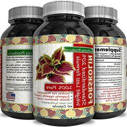 100% Pure Forskolin Extract 60 Capsules  - Highest Grade Wei