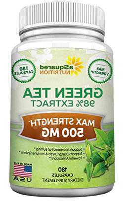 Green Tea Extract Supplement with EGCG - 180 Capsules - Max