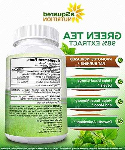 Green Extract with Capsules - Green Fat 500 mg Weight Boost Metabolism & All-Natural Low Diet Detox Antioxidant
